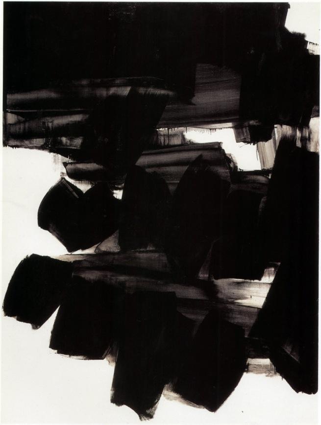 Pierre Soulages. 'Peinture; 260 x 202 cm; 19 juin 1963'