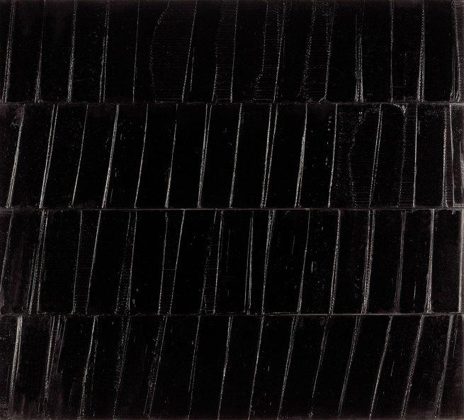 Pierre Soulages. 'Peinture; 324 x 362 cm; 1985'