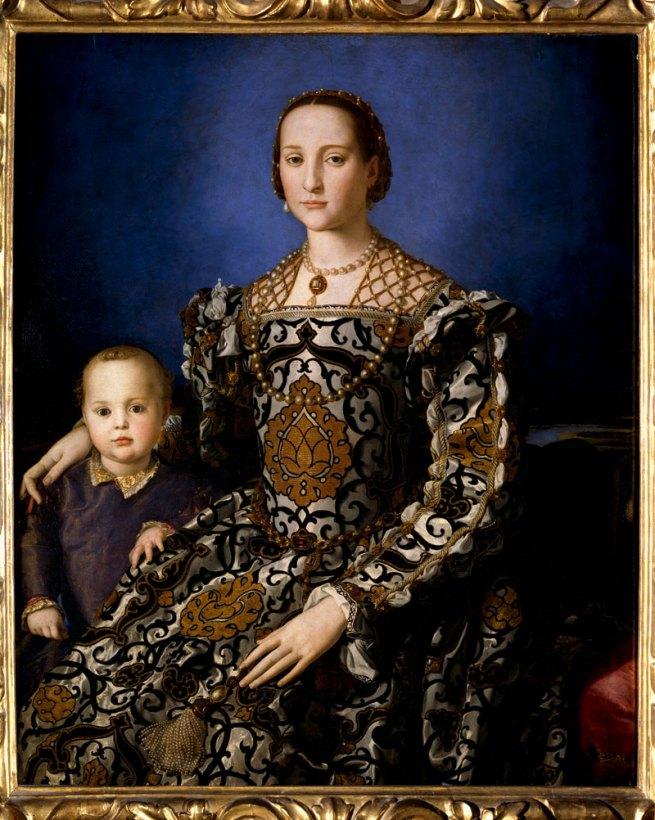 Bronzino. 'Portrait of Eleonora of Toledo with her son Giovanni' c. 1545