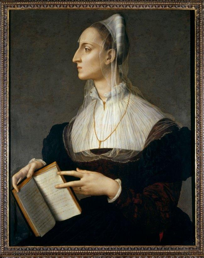 Bronzino. 'Portrait of Laura Battiferri' c. 1555-60