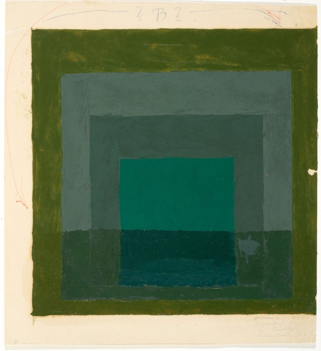 Josef Albers. 'Color Study for Homage to the Square' Nd