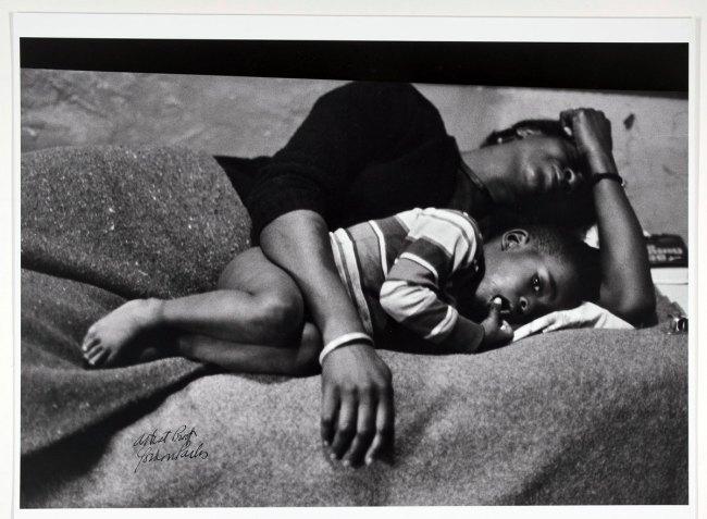 Gordon Parks. 'Bessie Fontenelle and Little Richard in bed, Harlem New York' 1968