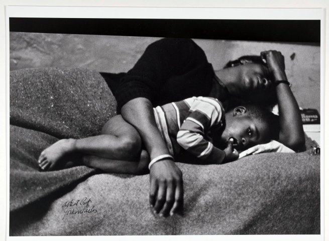 Gordon Parks. 'Bessie Fontenelle and Little Richard in bed, Harlem New York' 1968