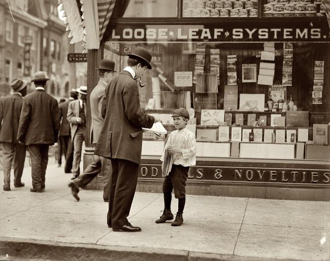 Lewis Hine. 'Don't Smoke, Visits Saloons' 1910