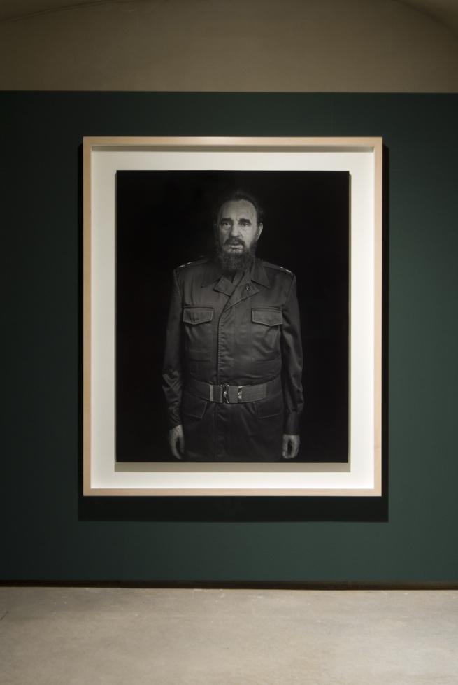 Hiroshi Sugimoto (Japan, b. 1948) 'Fidel Castro' 1999 (installation view)