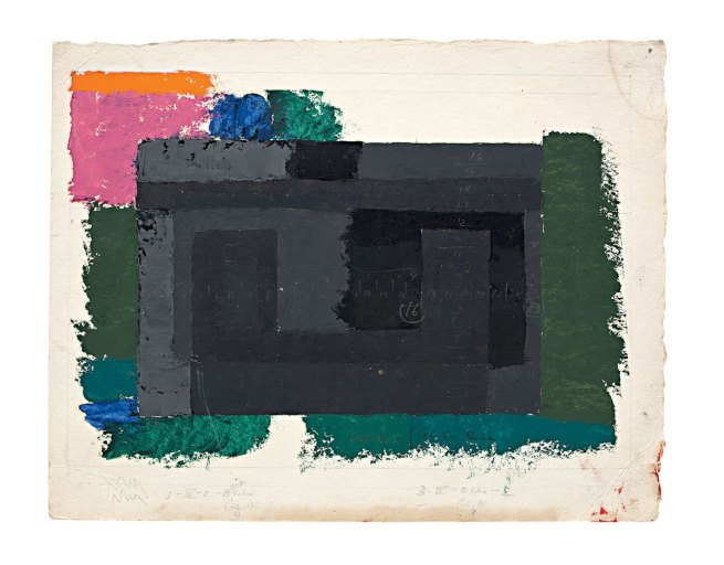 Josef Albers. 'Study for a Adobe' c. 1947