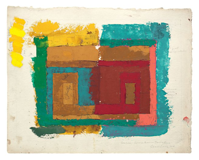 Josef Albers. 'Study for a Variant / Adobe (I)' c. 1947