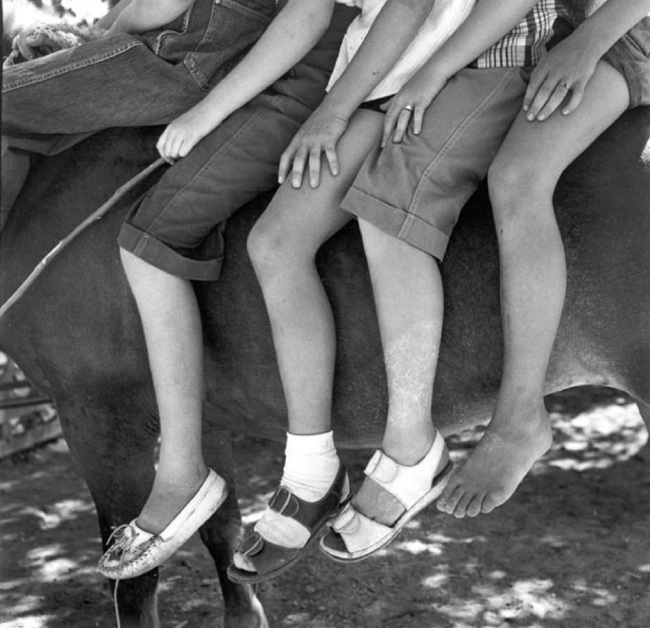Dorothea Lange. 'Four Young Riders in Summer' 1953
