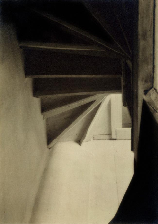 Charles Sheeler (American, 1883-1965) 'Doylestown House - Stairs from Below' 1917