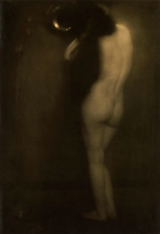 Edward Steichen (American, born Luxembourg, 1879-1973) 'The Little Round Mirror' 1901, printed 1905