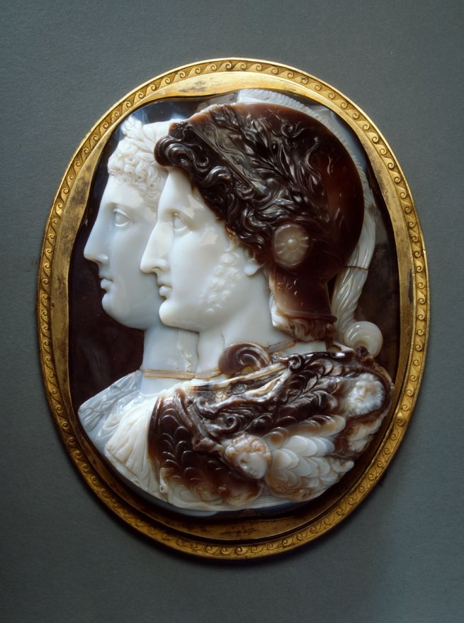 Cameo. Twin portrait of Ptolemy II Philadelphos and Arsinoe II (Gonzaga Cameo) 3rd century BC