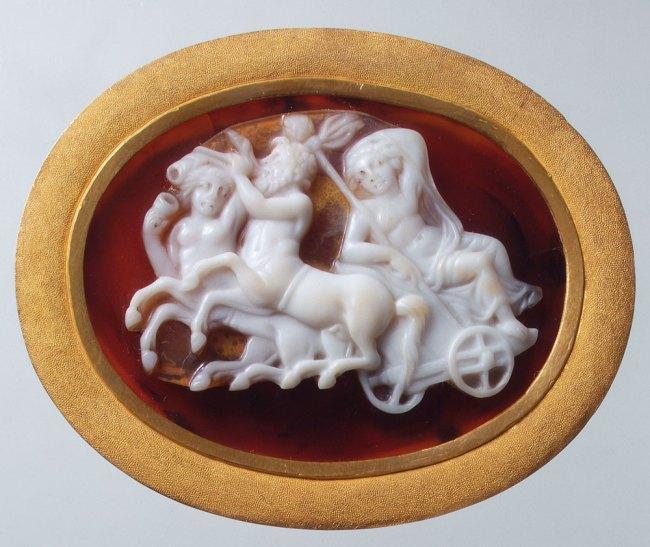 Cameo: triumph of Dionysus Alexandria 1st century BC