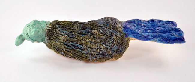 Kate Knight. 'Not titled (blue and green bird)' 2009