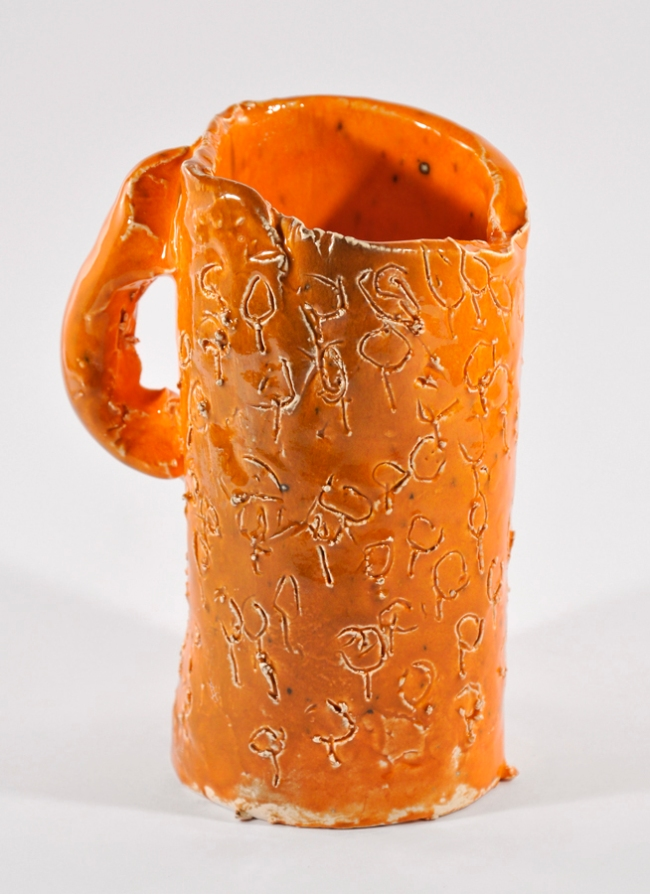 Kaye McDonald. 'Not titled (orange mug)' 2010
