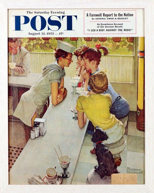 Norman Rockwell (American, 1894-1978) 'Soda Jerk' 1953