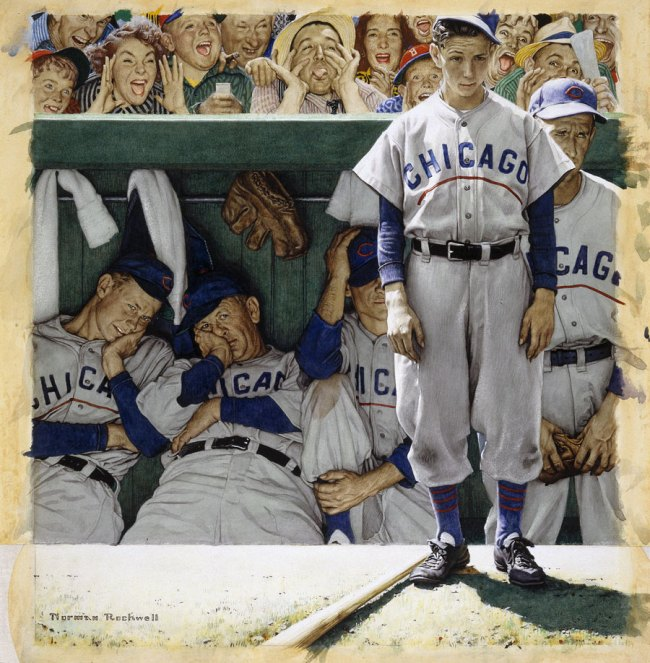 Norman Rockwell (American, 1894-1978) 'The Dugout' 1948