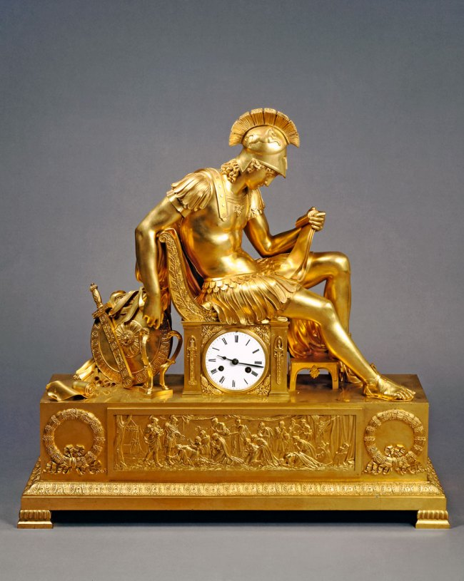 Table clock: the vigil of Alexander the Great Russia, St Petersburg (?), after original by Pierre Philippe Thomire 1830-40 (?)