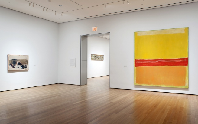 "Installation view of the exhibition, ""Abstract Expressionist New York: Rock Paper Scissors"""
