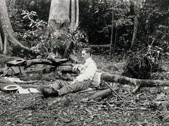 Arthur Wigram Allen (Australian, 1894-1967) 'Walter resting after lunch' November 19, 1898