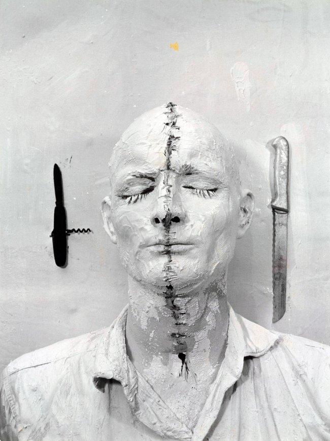 Günter Brus. 'Self-Painting 1' 1964