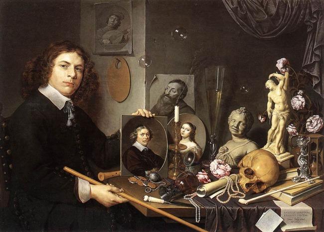 David Bailly. 'Self-Portrait with Vanitas Symbols' c. 1651