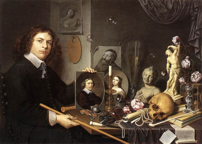 David Bailly. 'Self-Portrait with Vanitas Symbols' c. 1651