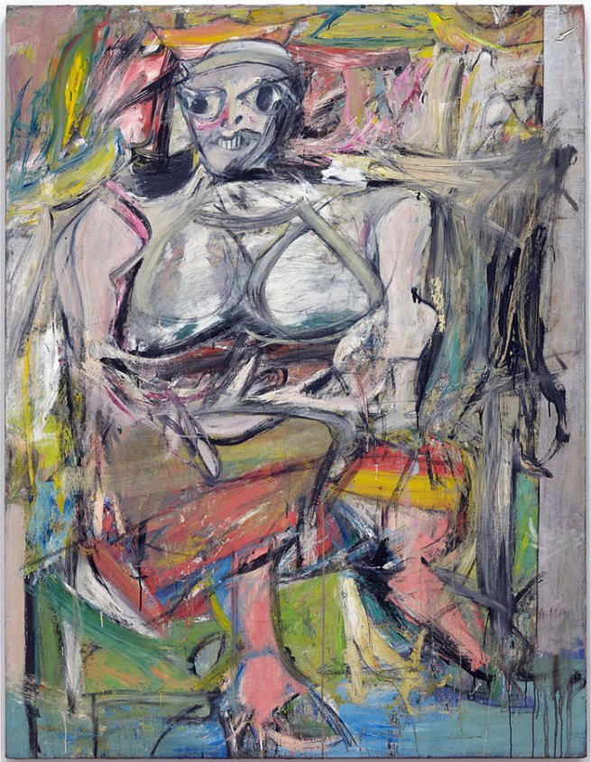 Willem de Kooning (American, born The Netherlands, 1904-1997). 'Woman, I' 1950-52