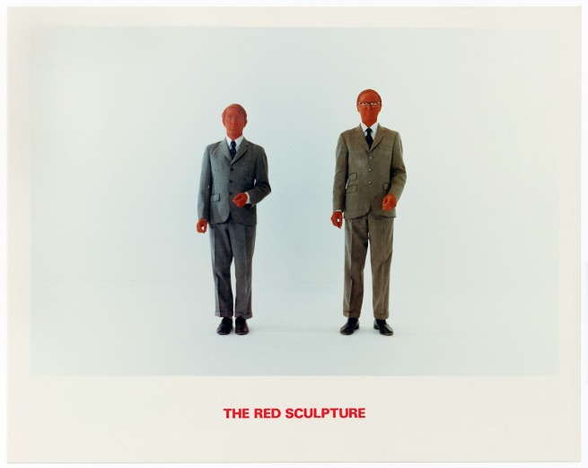 Gilbert & George. 'The Red Sculpture' 1975