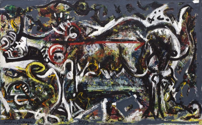 Jackson Pollock (American, 1912-1956) 'The She-Wolf' 1943