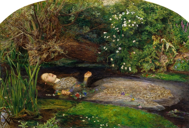 Sir John Everett Millais (English, 1829-1896) 'Ophelia' 1851-52