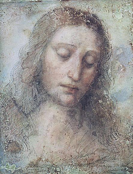 Leonardo da Vinci(Italian, 1452-1519) 'Study for the head of Christ for The Last Supper [Testa di Cristo]' c. 1494-5