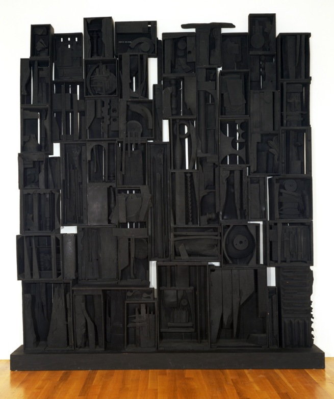Louise Nevelson (American, born Ukraine. 1899 -1988). 'Sky Cathedral' 1958