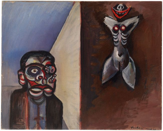 Albert Tucker (Australian, 1914-1999) 'Image of Modern Evil: Demon Dreamer' 1943