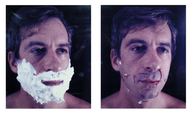 William Wegman. 'Foamy Aftershave (L-Foamy; R-Aftershave)' 1982