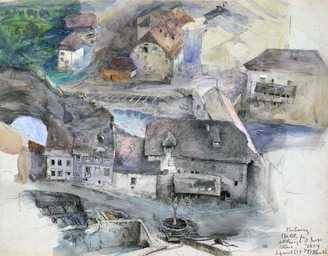 John Ruskin. 'Fribourg' 1859