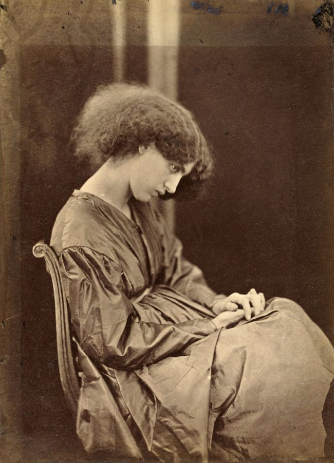 John Robert Parsons, under the direction of Rossetti. 'Jane Morris posing in the house of Rossetti' summer 1865