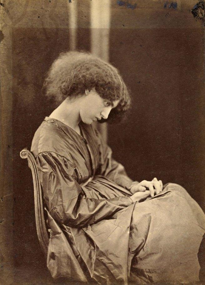 John Robert Parsons, under the direction of Rossetti. 'Jane Morris posing in the house of Rossetti' summer 1865