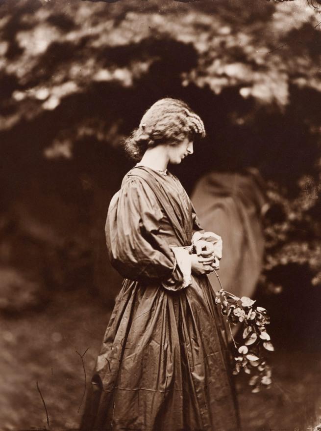 John Robert Parsons. 'Jane Morris posing in the garden of the house of Rossetti' summer 1865