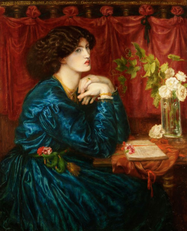 Dante Gabriel Rossetti. 'Jane Morris, the blue silk dress' 1868