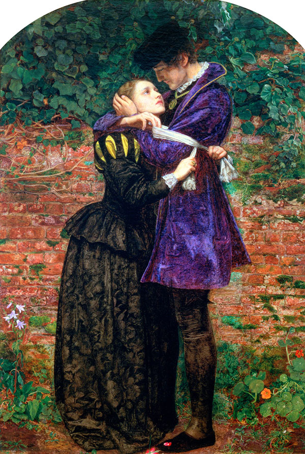 Sir John Everett Millais. 'A Huguenot, on St. Bartholomew's Day Refusing to Shield Himself from Danger by Wearing the Roman Catholic Badge' 1851-1852