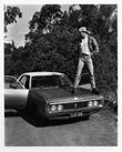 Marcus Bunyan. 'Jeff standing on his Valiant' 1992