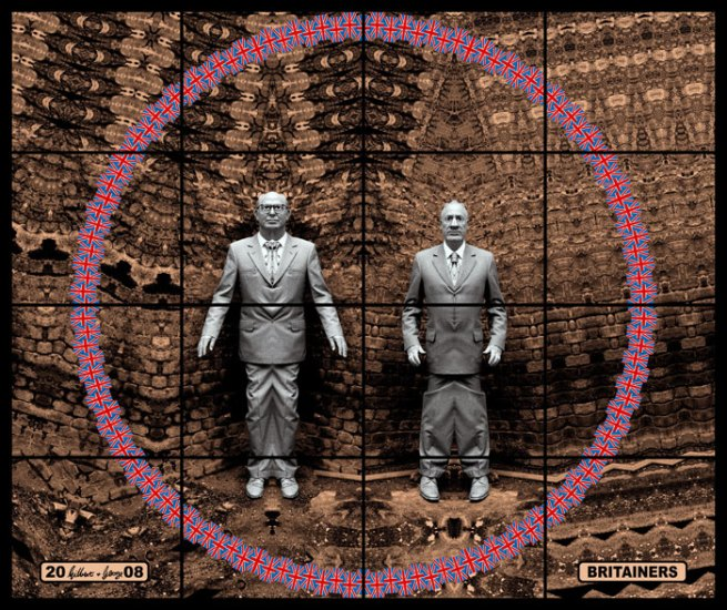 Gilbert & George. 'Britainers' from the series 'Jack Freak Pictures' 2008
