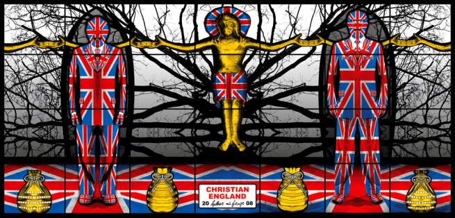 Gilbert & George. 'Christian England' from the series 'Jack Freak Pictures' 2008