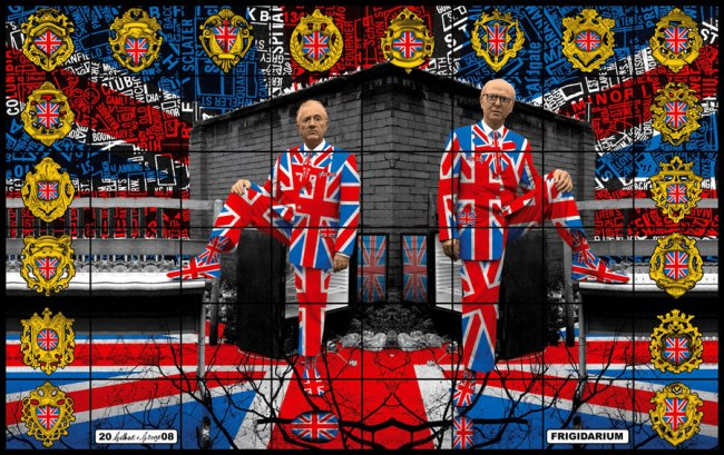 Gilbert & George. 'Frigidarium' from the series 'Jack Freak Pictures' 2008