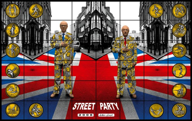 Gilbert & George. 'Street Party' from the series 'Jack Freak Pictures' 2008