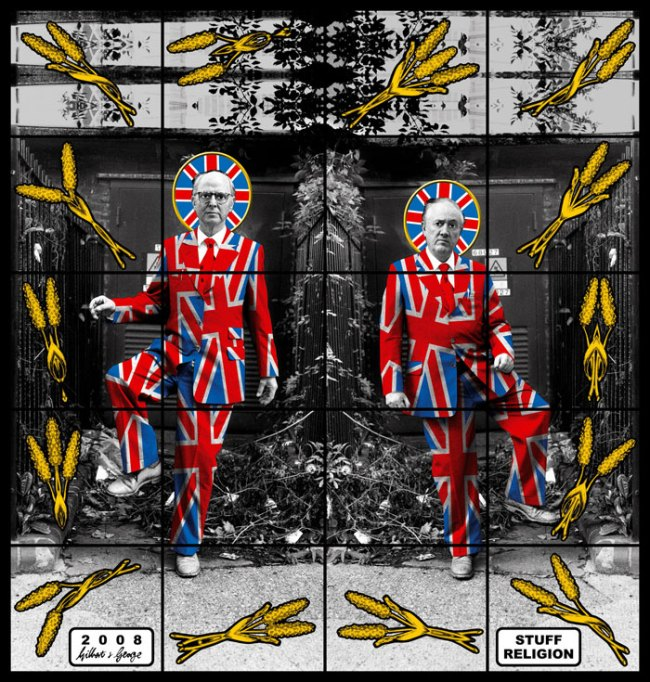 Gilbert & George. 'Stuff Religion' from the series 'Jack Freak Pictures' 2008