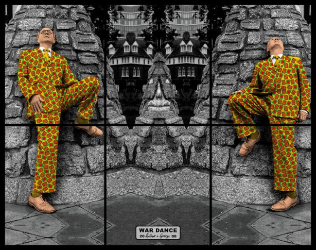 Gilbert & George. 'War Dance' from the series 'Jack Freak Pictures' 2008