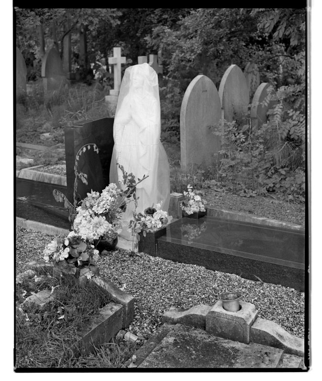 Marcus Bunyan. 'Covered figure with graves' 1993