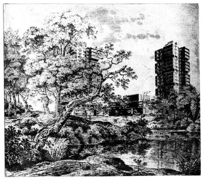 Cyprien Gaillard. 'Belief in the Age of Disbelief (L'arbre incliné/étape VI)' 2005