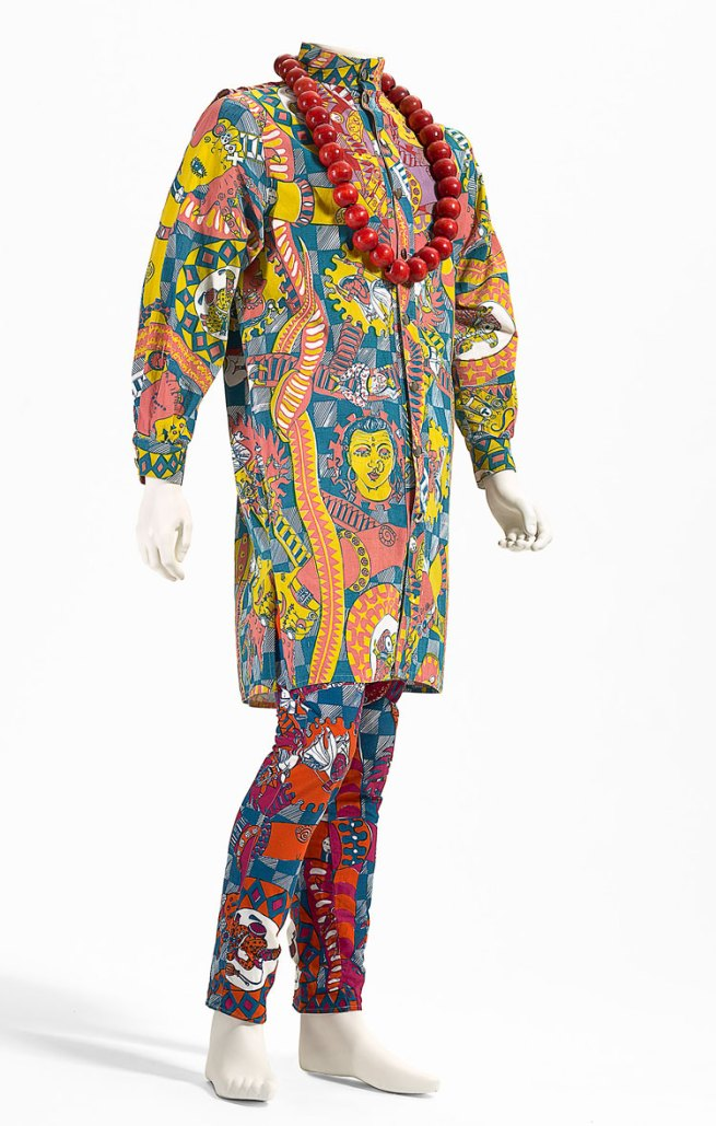 Plain Jane, Melbourne (fashion house). Gavin Brown (designer) 'Indian snakes and ladders outfit' 1985